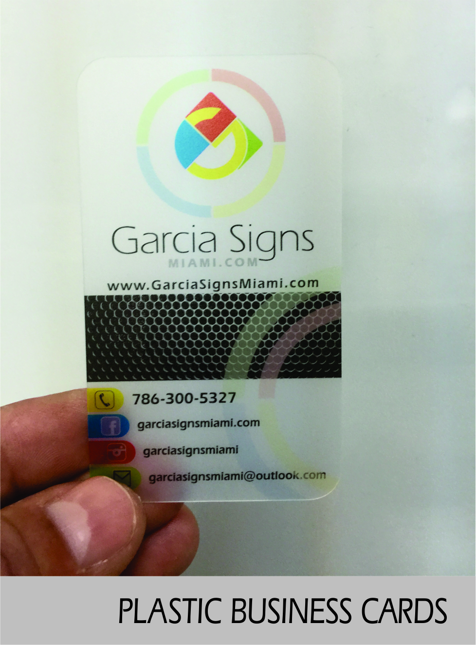 Business Cards 3 5×2″ – Garcia Signs Miami